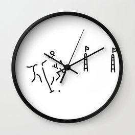 Polo horse-racing jockey horse Wall Clock