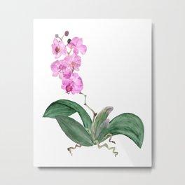 Watercolor Orchids Metal Print