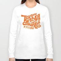 darwin Long Sleeve T-shirts featuring Thank Darwin it's christmas by Matteo Simonetti