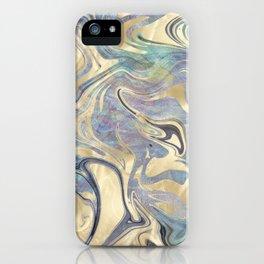 Liquid Gold Mermaid Sea Marble iPhone Case
