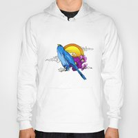 pigeon Hoodies featuring Pigeon by happytunacreative