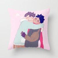 viria Throw Pillows featuring tiny iwaois by viria