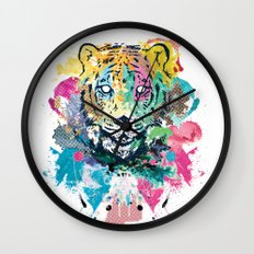 Tiger Splash Wall Clock