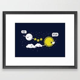 Night time, Day time Framed Art Print
