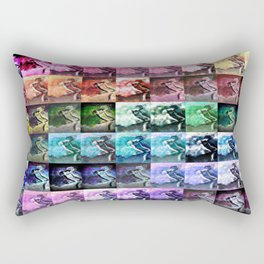 The Dancer Colorful Rainbow Collage Rectangular Pillow