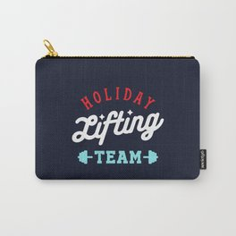 Holiday Lifting Team (Christmas Gym, Workout and Fitness) Carry-All Pouch