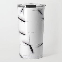 quadrats with diagonal lines Travel Mug
