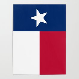 Texas state flag, High Quality Authentic Version Poster