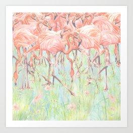 Flamingo Meadow Art Print
