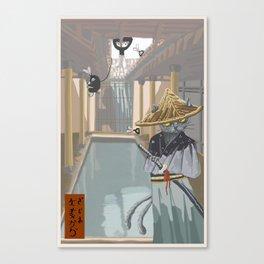 Neko Mata vs the Rabbit Foot Clan Canvas Print