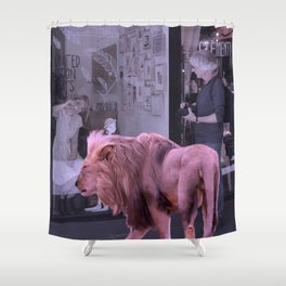 Searching the Beauty. African Invasion Shower Curtain
