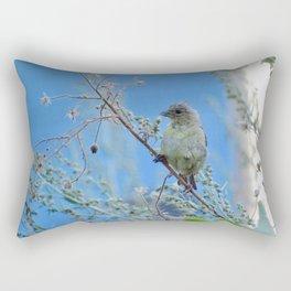 Spying September Goldfinch Rectangular Pillow