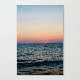 Dreamy Pastel Cape May Sunset Canvas Print