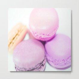 Macaroons pink peach lavender Metal Print