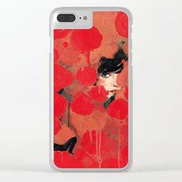 Ma rose à moi Clear iPhone Case