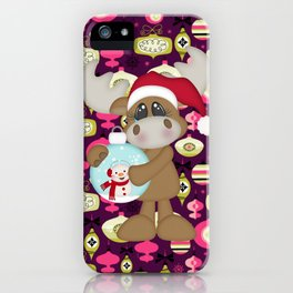 Christmas Ornaments Moose iPhone Case