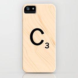 Scrabble Tile C - Large Scrabble Letters iPhone Case