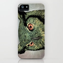 Owl - Red Eyes iPhone Case