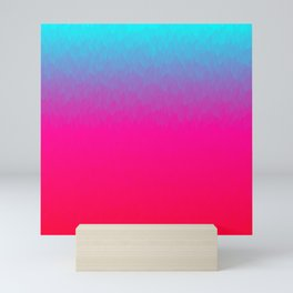 Blue purple and pink ombre flames Mini Art Print