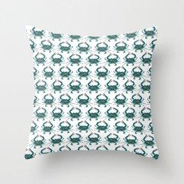 Pattern: Blue Crab Fest! ~ (Art Copyright 2013) Throw Pillow