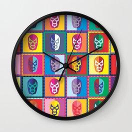 mascaras de luchadores II Wall Clock