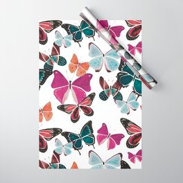 The Pink & Blue Butterflies Wrapping Paper