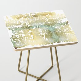 Fractured Gold Side Table