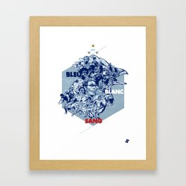 Bleu Blanc Sang Framed Art Print
