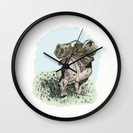 Pack Mule Wall Clock