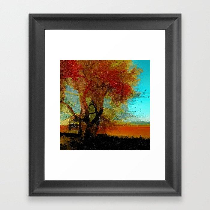 Red Tree Gerahmter Kunstdruck