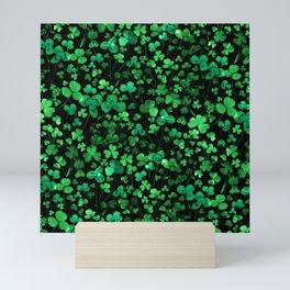 Evening Green Shamrocks Mini Art Print