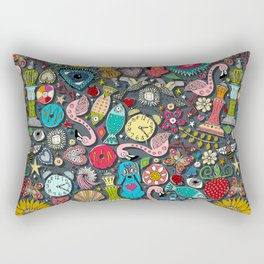 kitsch scatter raven Rectangular Pillow