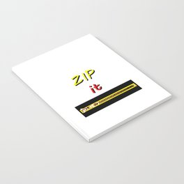 Zip it Black Yellow Red jGibney The MUSEUM Gifts Notebook