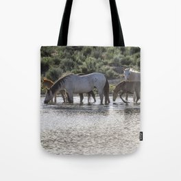 Reaching the Waterhole Tote Bag