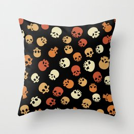Skull Expression Pattern Throw Pillow