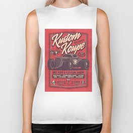 Vintage Style Fictional Halloween Hot Rod Show - Red Biker Tank