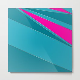 Combined geometric pattern 2 Metal Print