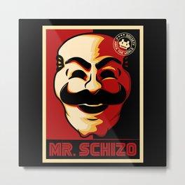 Mr. Schizo Metal Print