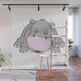 Handsome Hippo Wall Mural