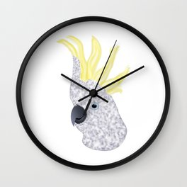 Cockatoo Parrot Wall Clock