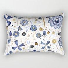 Indigo Flower Mashup Rectangular Pillow