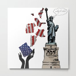 Liberty Waiting to Exhale by HeavenNezCree Metal Print