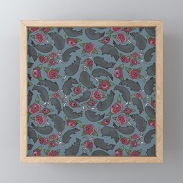 Rat-Roses Framed Mini Art Print