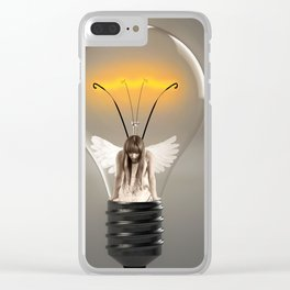 Fairy Stuck in a Lightbulb Clear iPhone Case