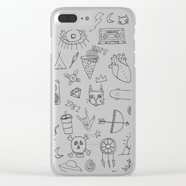 stuff & things Clear iPhone Case