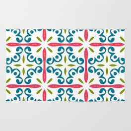 Fashion modern patterns. Beautiful design colors ornament. Stylish graphic Rug
