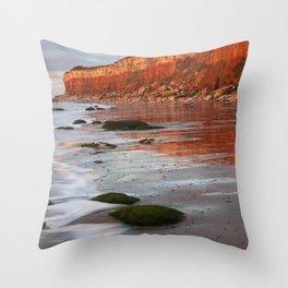 Hunstanton Cliffs, Norfolk Throw Pillow