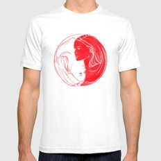Duality White SMALL Mens Fitted Tee