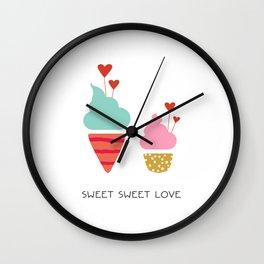 Ice Cream lovers Wall Clock