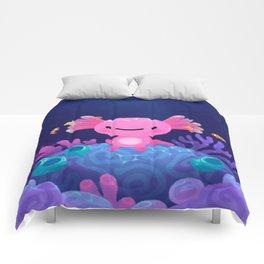 Coral axolotl Comforters